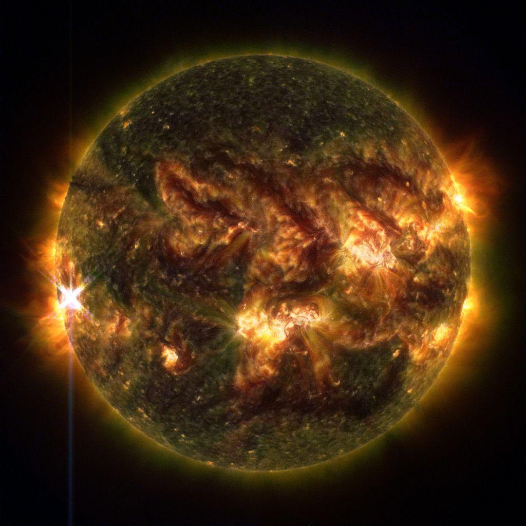 Llamarada solar de clase X, 25 de octubre 2013