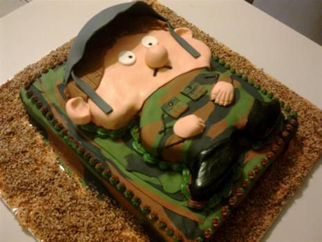 army cake Military Lo Pinterest Army cake Cake and