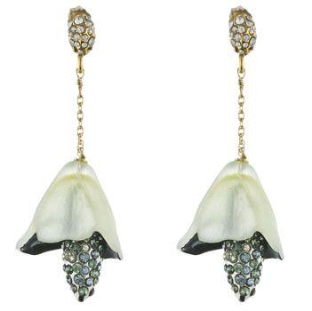 Alexis Bittar Grey Garden Bell Flower earrings   Gemstone ...