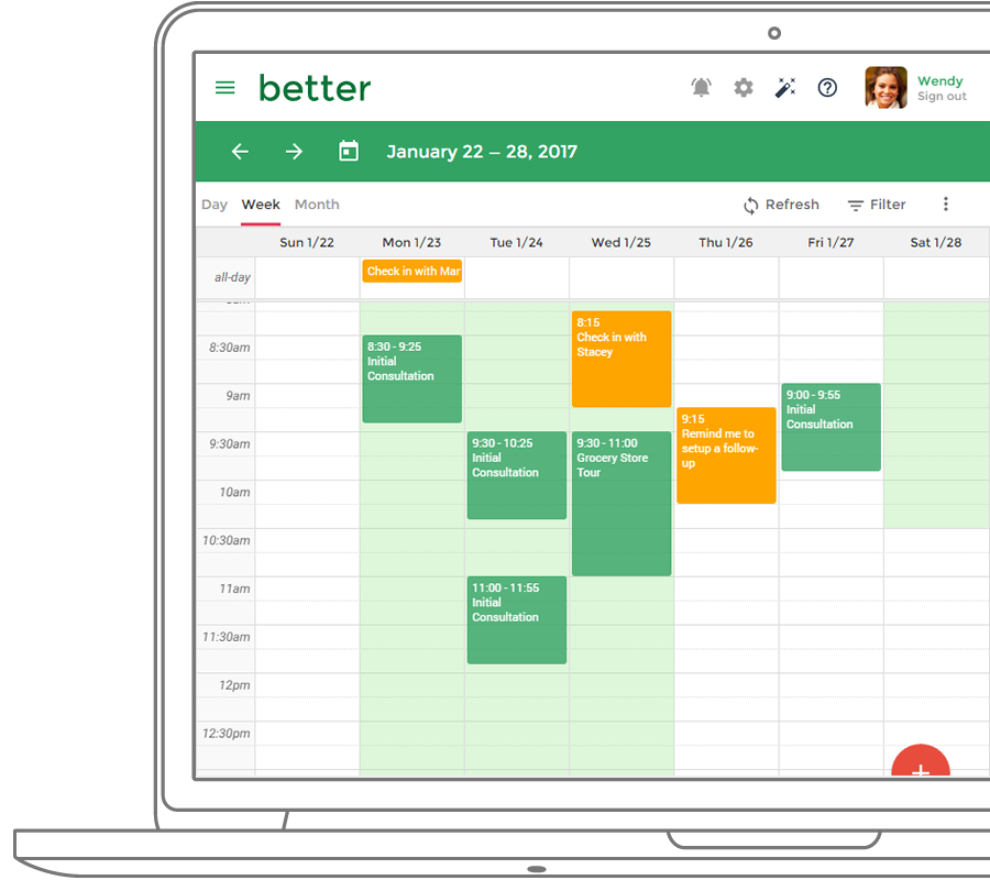 Practice Better Nutritionist Appointment Scheduling