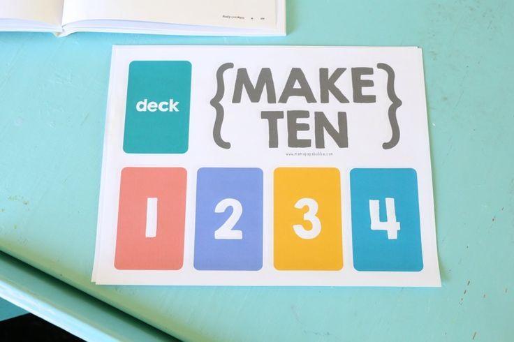Make Ten {an easy card game for kids | Math, School and Math coach