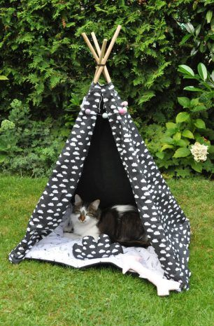 howgh katzen hundetipi bauen indianerzelt katzen. Black Bedroom Furniture Sets. Home Design Ideas