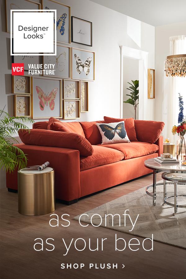 Plush Sofa With Images Living Room Decor Modern Living Room