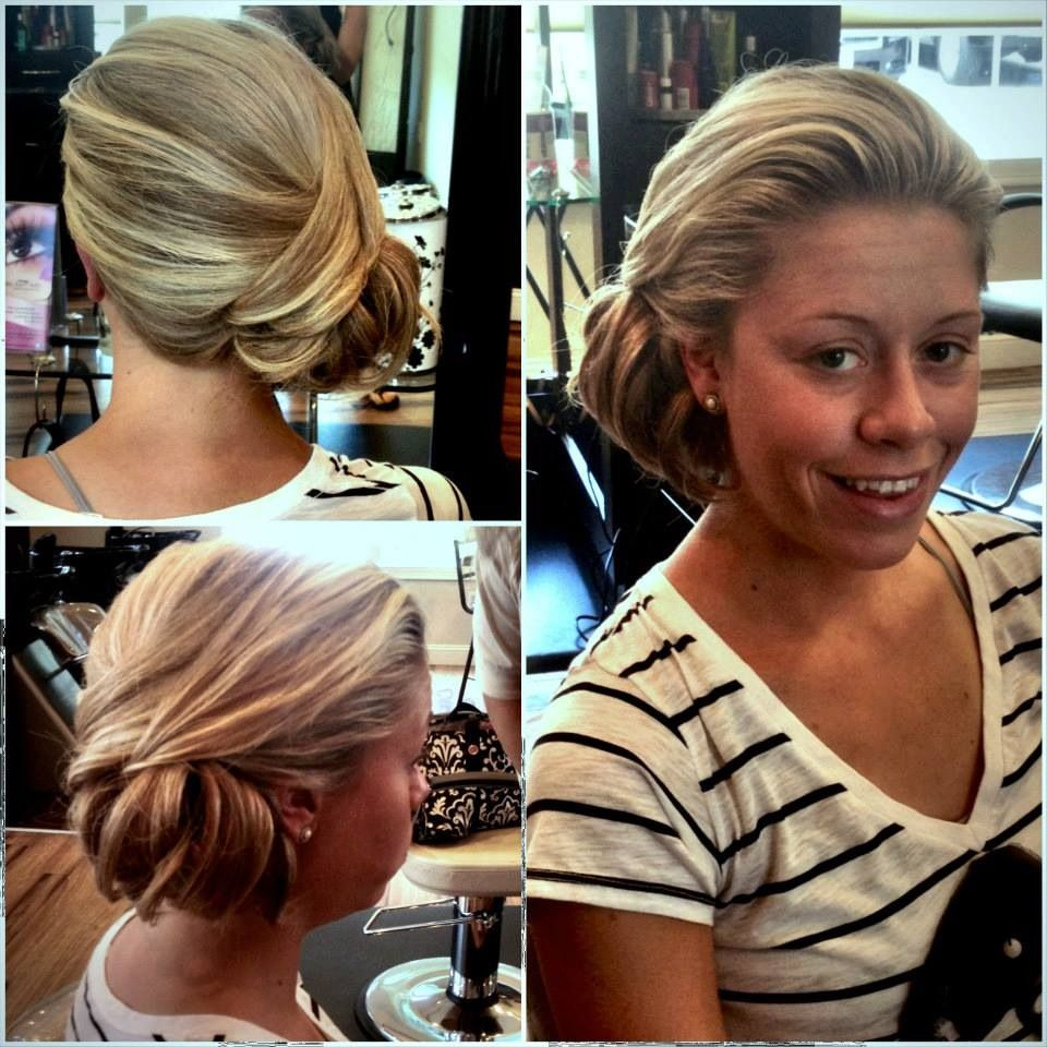 Elegant side hairstyles - Elegant Wedding Updo Side Bun Blonde Hair