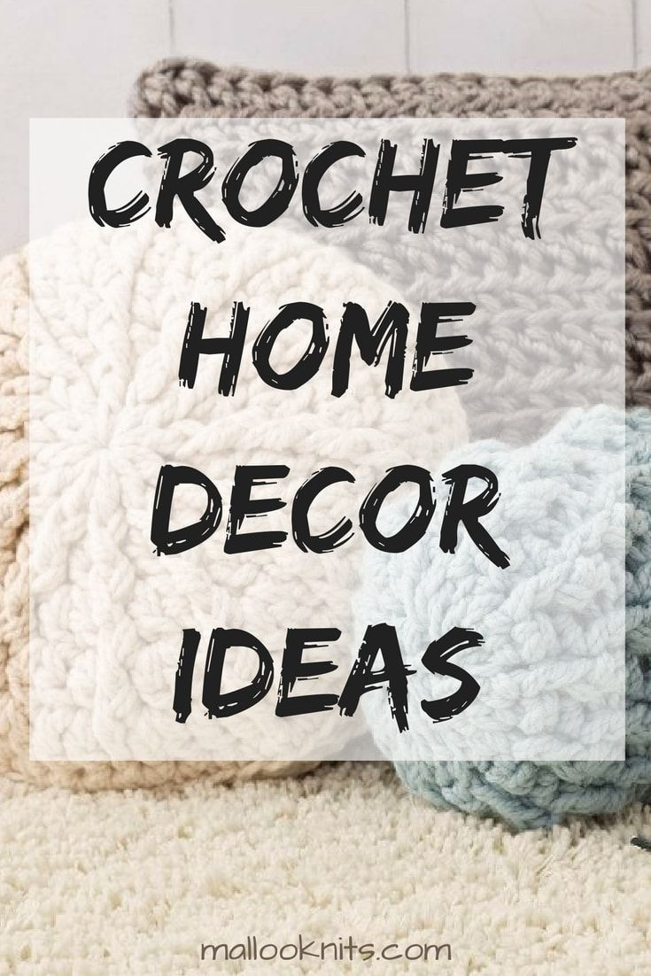 Crochet home decor ideas with free patterns