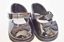 Black Bow Mary Janes Doll Shoes For 18 Inch American Girl Dolls