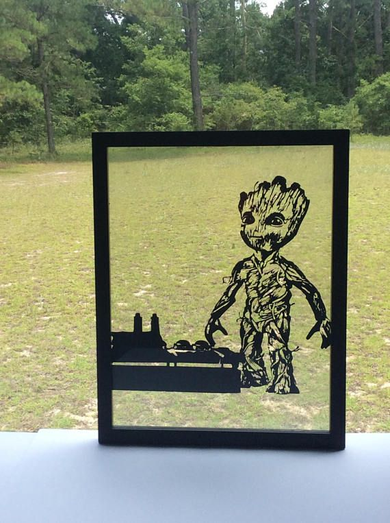 Baby Groot / Guardians of the Galaxy / silhouette paper cut craft ...