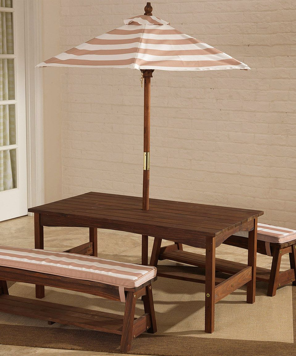 Love This Espresso Amp Oatmeal Outdoor Table Amp Bench Set By