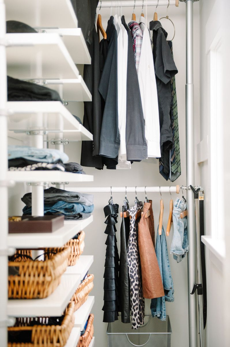 Shared Closet Capsule Wardrobes Baskets Shelter Downstairs