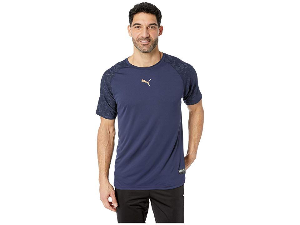 e2f74d209 PUMA Vent Graphic Tee (Peacoat) Men's T Shirt. You've got the power ...