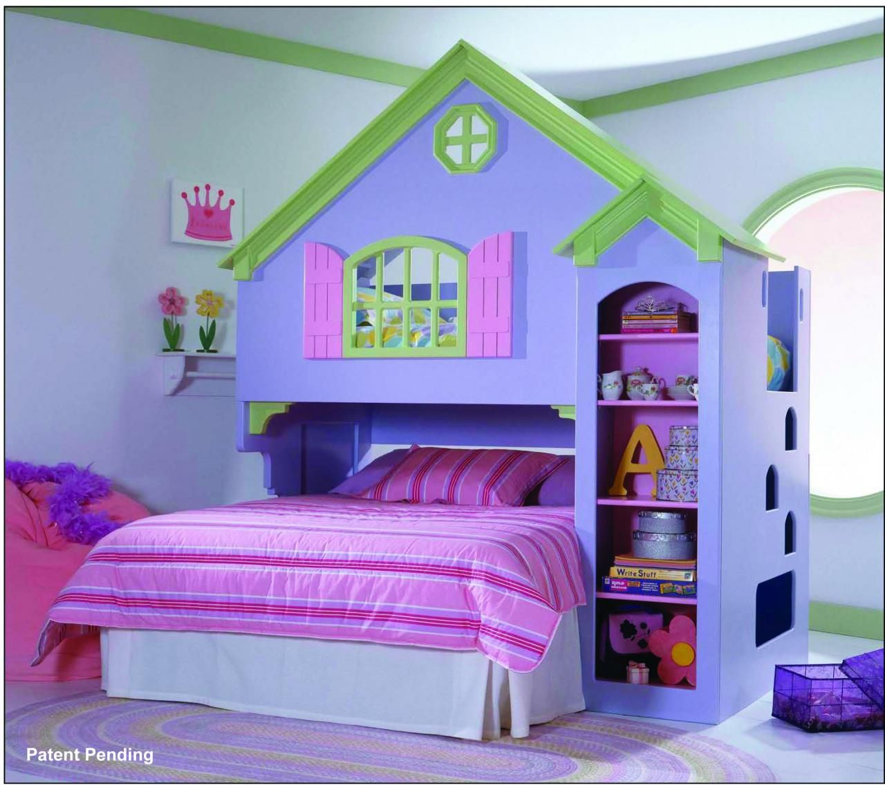 Little+Girls+loft+bedroom | Details about Childrens Doll House Bed ...
