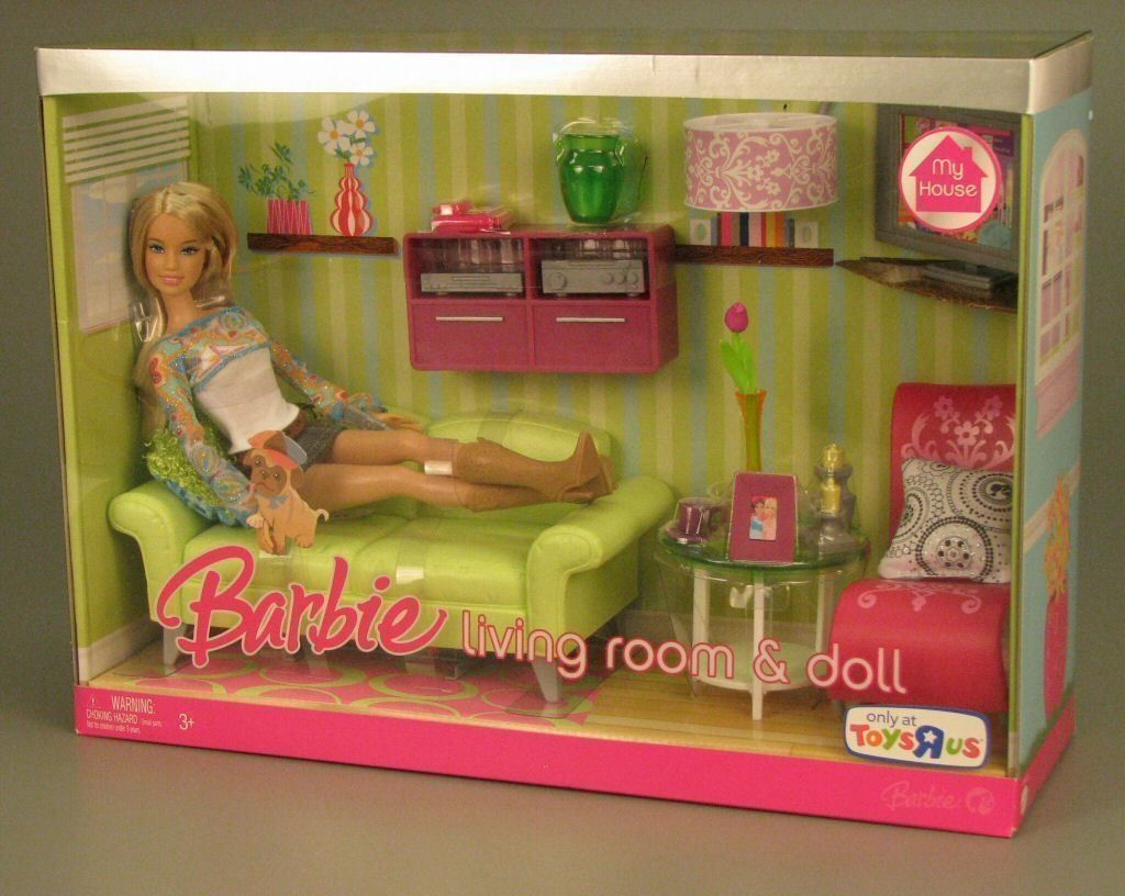 Barbie Doll Living Room Set | Toy Design | Barbie dolls ...