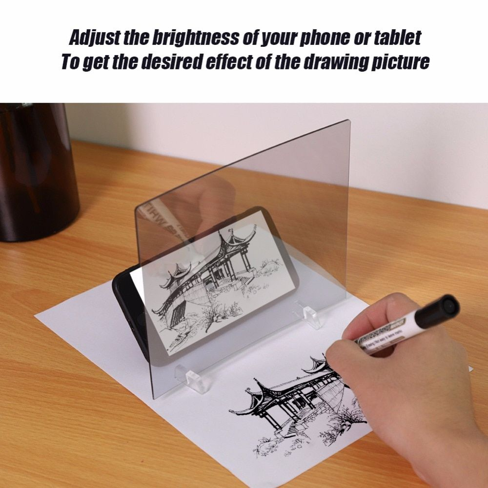 19 94us New Upgrated Painting Tracing Board Sketch Table Kids Drawing Tools Tekenen Dessin Dibujo Christmas Gifts Kids Optical Drawing Art Sets Aliexpre Mirror Reflection Mirror Drawings Drawings