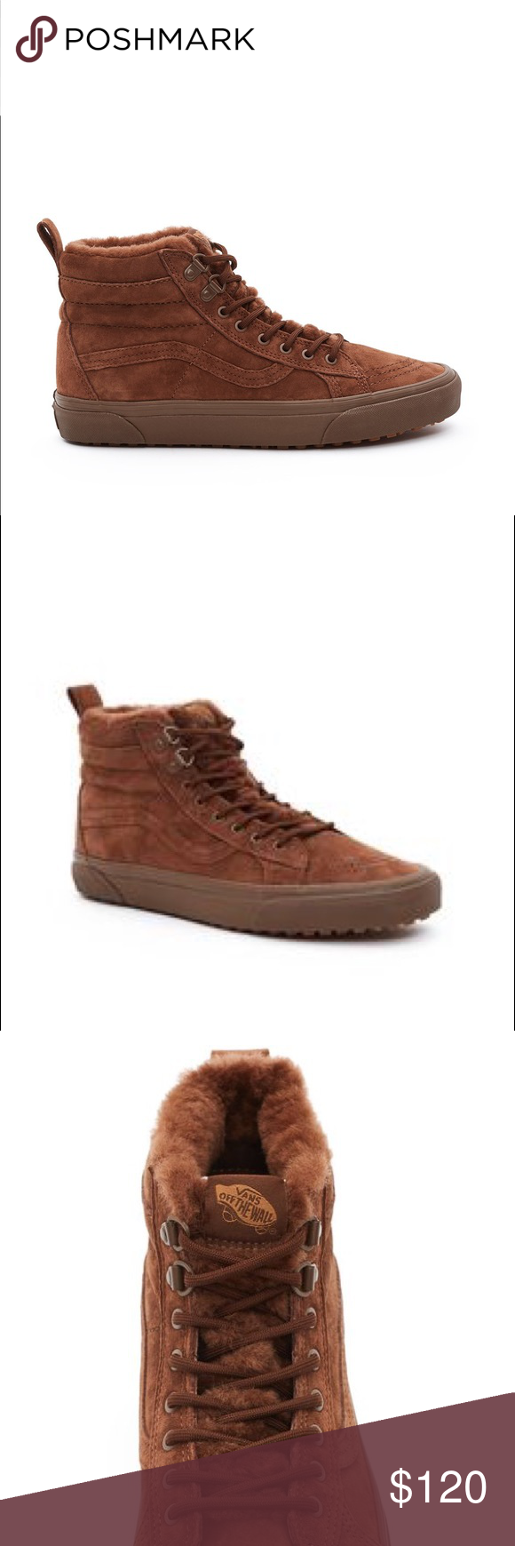 41454a8c50 Vans for Opening Ceremony Sk8-Hi Mte sneakers 7.5 Brand new in box! From  the Vans x OC collab. Brown Suede sneakers with faux fur on the inside.  Men s  6.