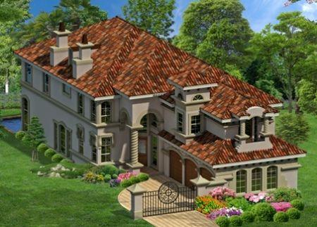 Tuscan Inspiration For Narrow Home Design Luxury Plan Basement House Plans Narrow Lot House Plans
