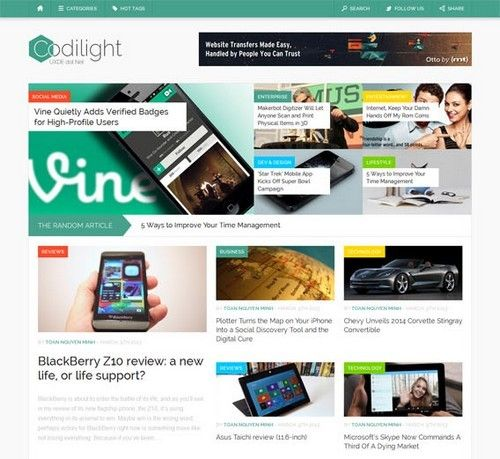 Codilight-WordPress-Theme.jpg (500×459) | WordPress | Free Themes 1 ...