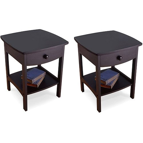 Curved Nightstand / End Table, Set Of 2  Great Option For Living Room Or
