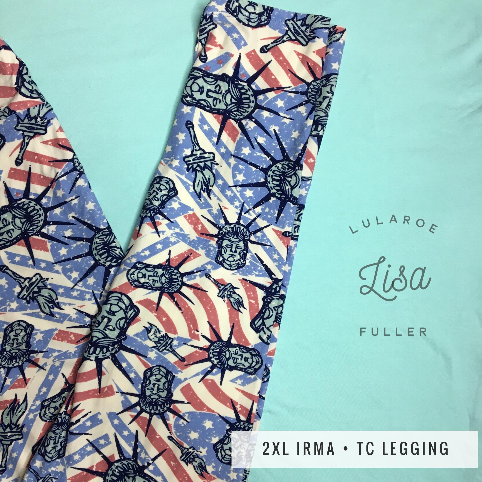 LuLaRoe Irma with matching Statue of Liberty Americana Leggings!