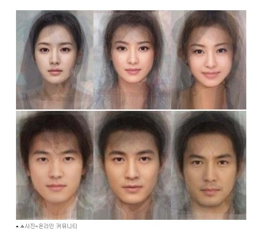 Average Face For Korean  Chinese And Japanese Stars