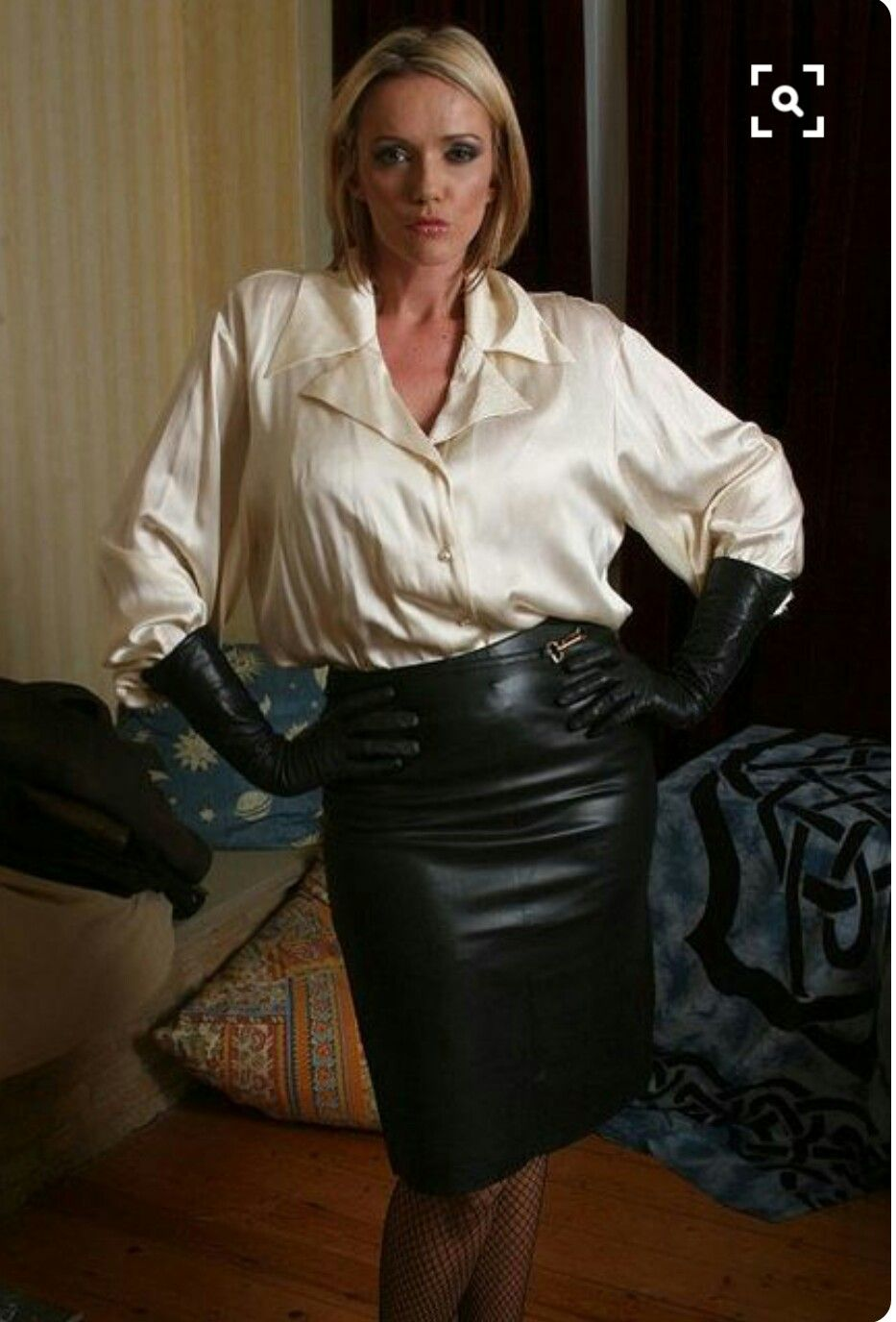 Leather skirt worn sexy style. | Leather Skirts & Dresses ...