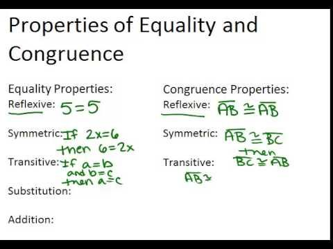 Properties Of Equality And Congruence Lesson Geometry Concepts Lesson Geometry Equality