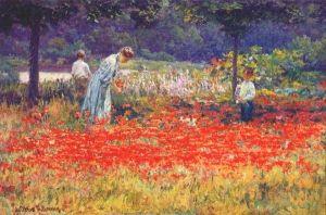 Poppy Garden - John Ottis Adams - The Athenaeum