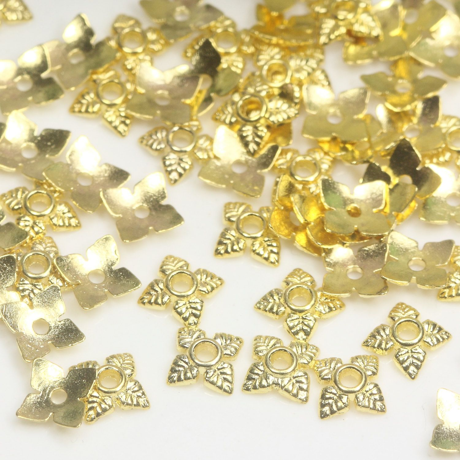 6mm Gold Bead Caps Small Flower Bead Caps Tibetan Bead Caps Bead