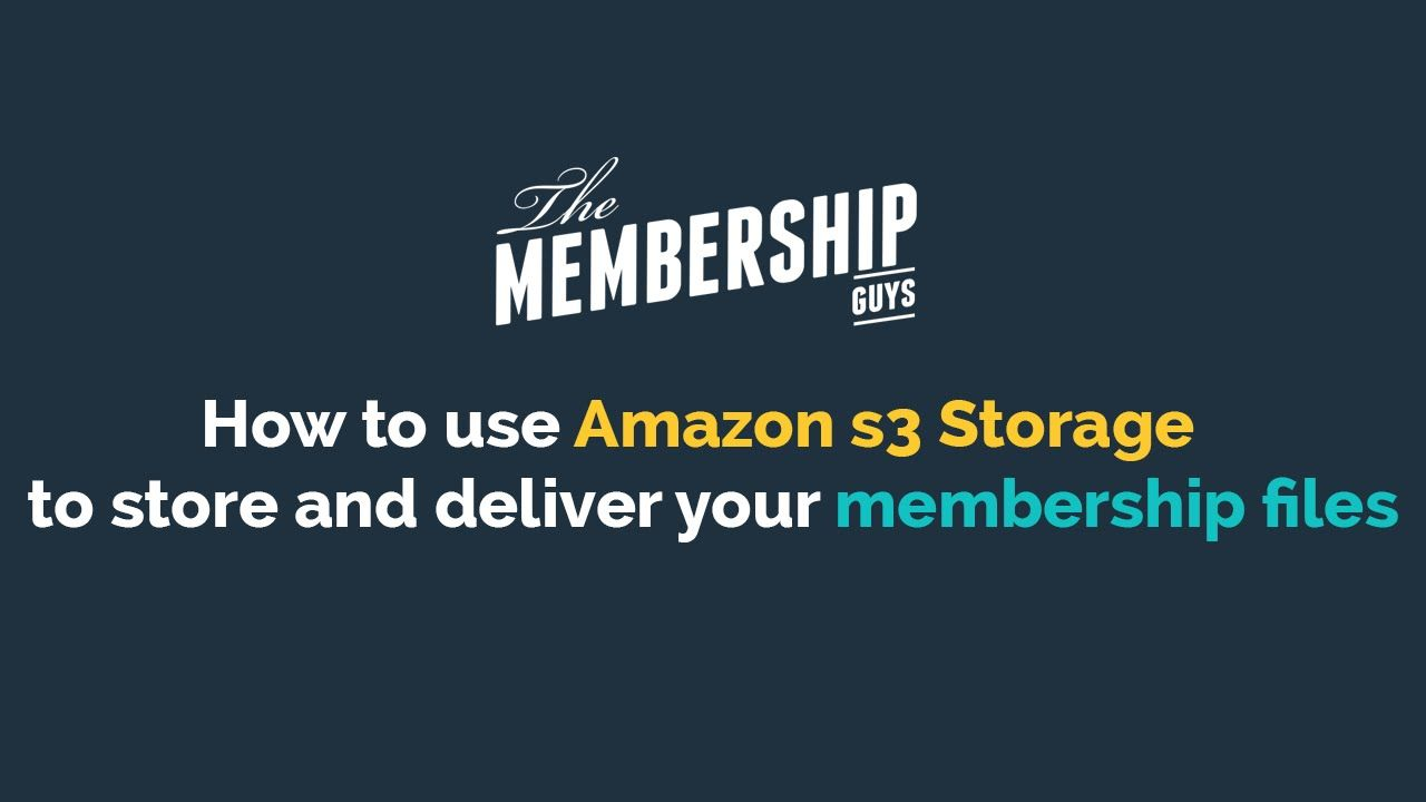 How to set up AMAZON S3 STORAGE for offsite storage of your membership files, including how to keep the files secure - Video at https://youtu.be/039_ozy3wi0