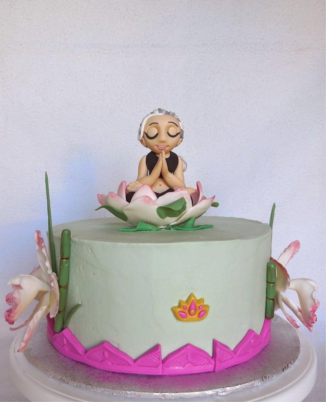 Custom Cakes by Lori: Yoga birthday cake for an eighty ...