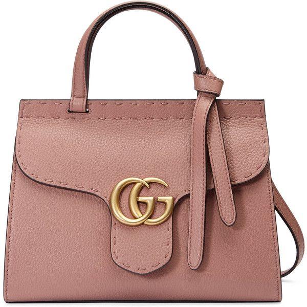 Gucci Gg Marmont Leather Top Handle Mini Bag 109 780 Rub Liked On Polyvore Featuring Bags Handbags Purses Bolsas Rose