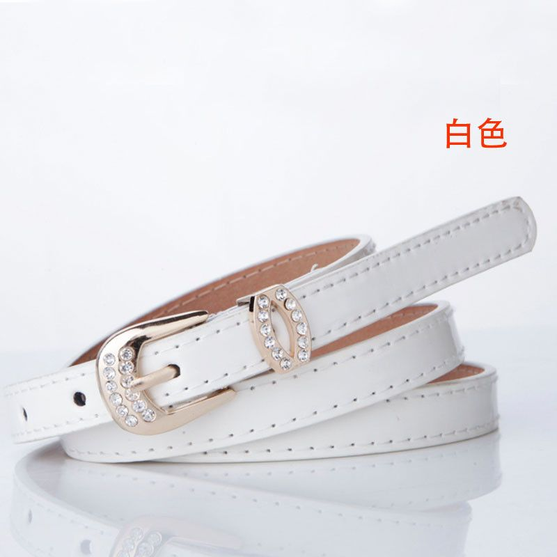 Fashion rhinestone decoration skirt belt Women all-match women's one-piece dress japanned leather strap