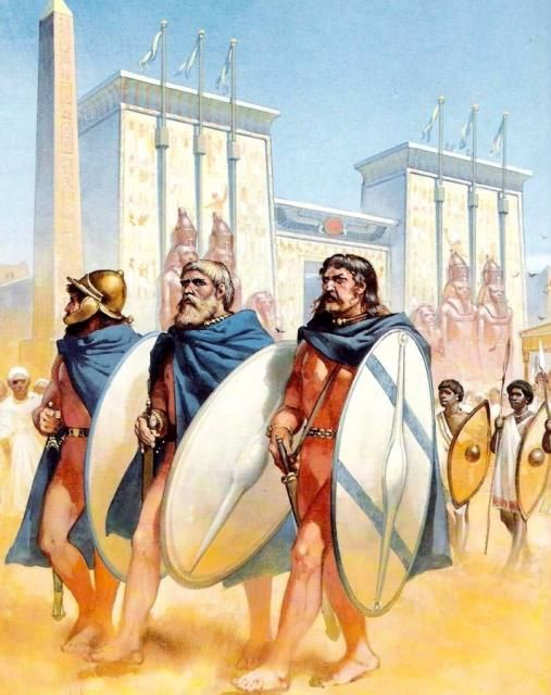 Celtic Galatians in Ptolemaic service, Egypt 3 century BC