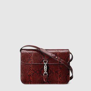 Jackie Soft python shoulder bag