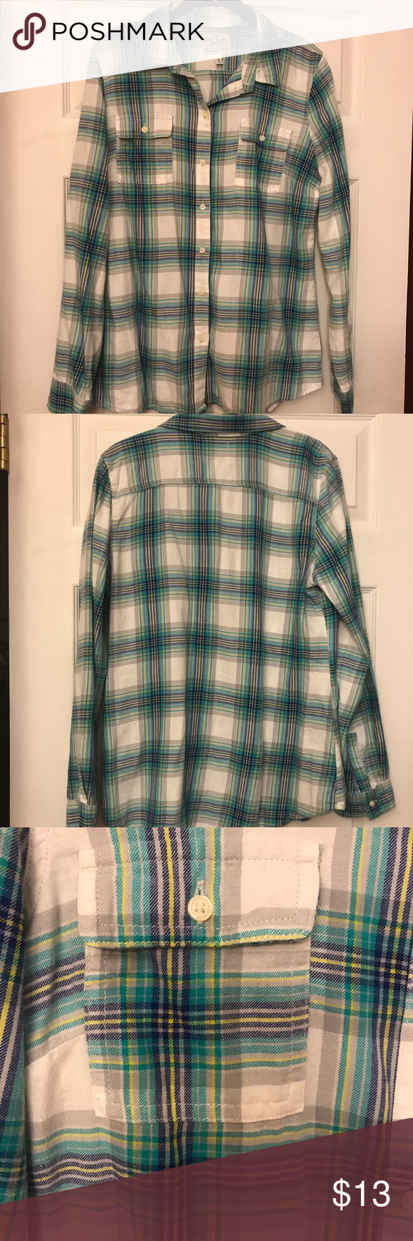 Flannel shirt knot  EUC flannel from Old Navy  Flannels Navy tops and Navy