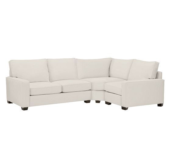 PB Comfort Square Upholstered 3-Piece Sectional with Wedge | Pottery Barn  sc 1 st  Pinterest : pottery barn 3 piece sectional - Sectionals, Sofas & Couches