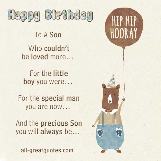 Free Birthday Cards For Son Happy To A Who Couldnt Be Loved More