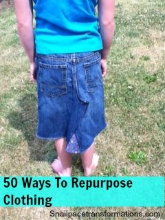 Every mom has faced that pile of clothes the children no longer need. Here are 50 ways either sell them donate them or repurpose them.