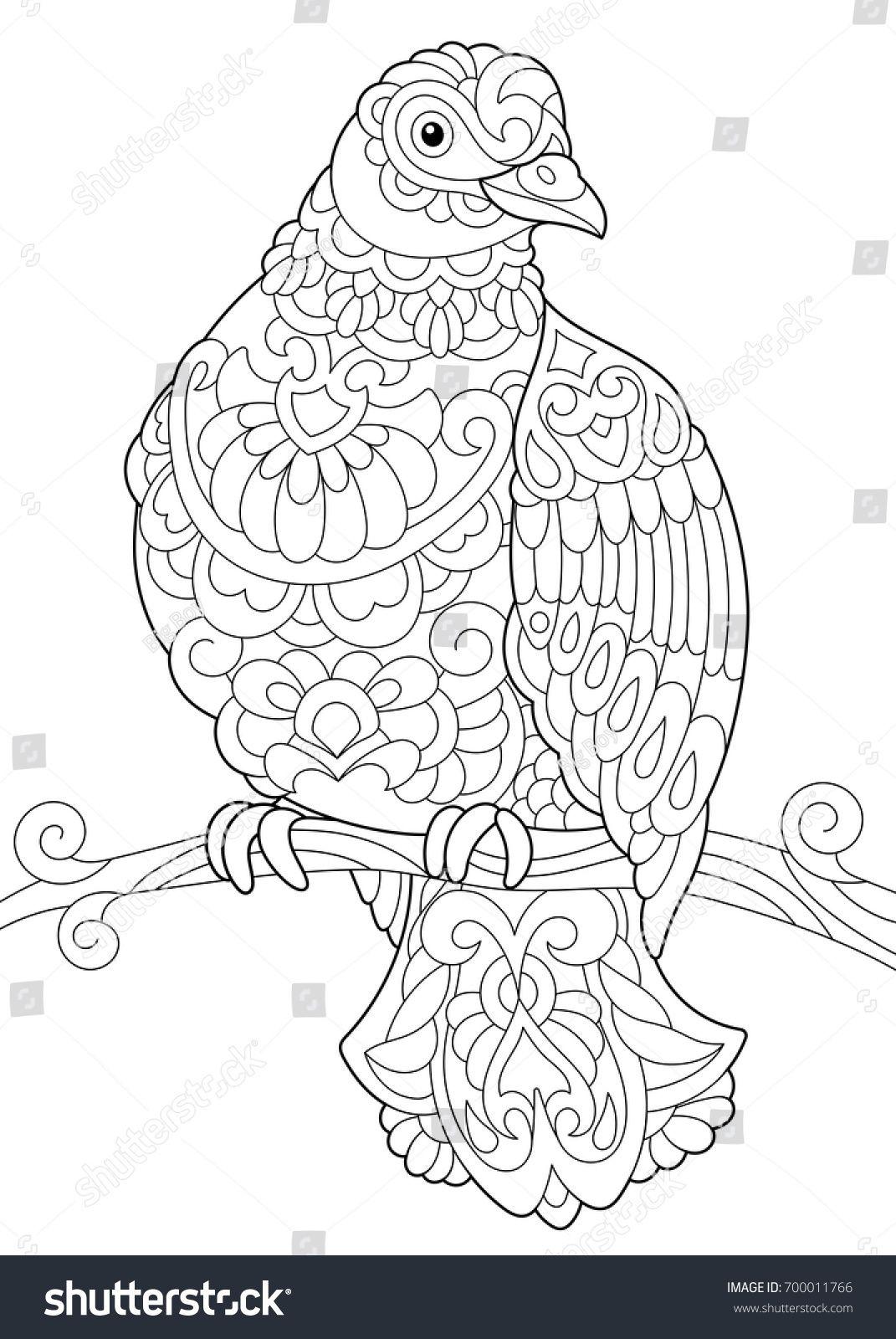 Pin von nnnn auf Жуки, птички | Pinterest | Ausmalbilder, Vogel und ...