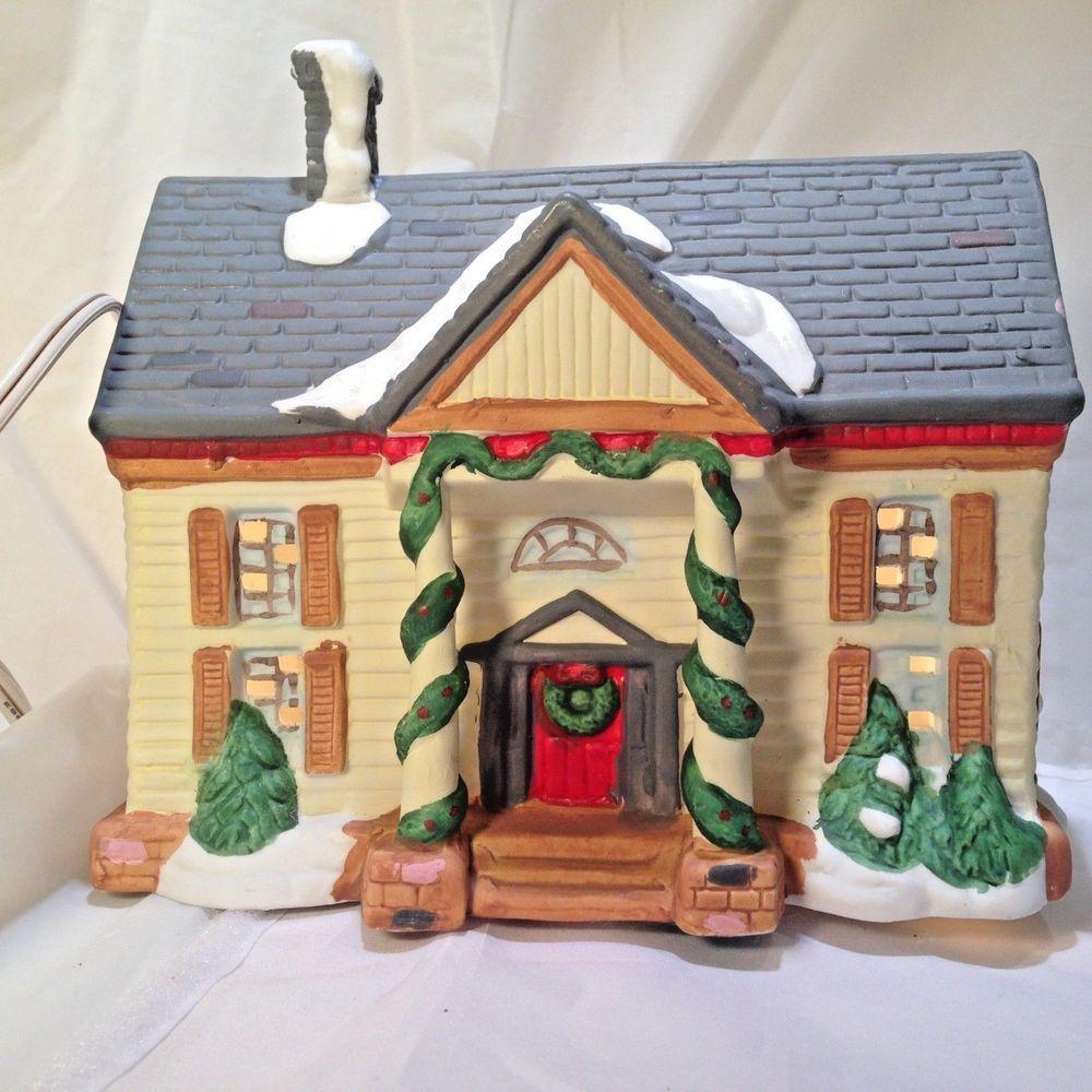 noma dickensville christmas village lighted house porcelain 65