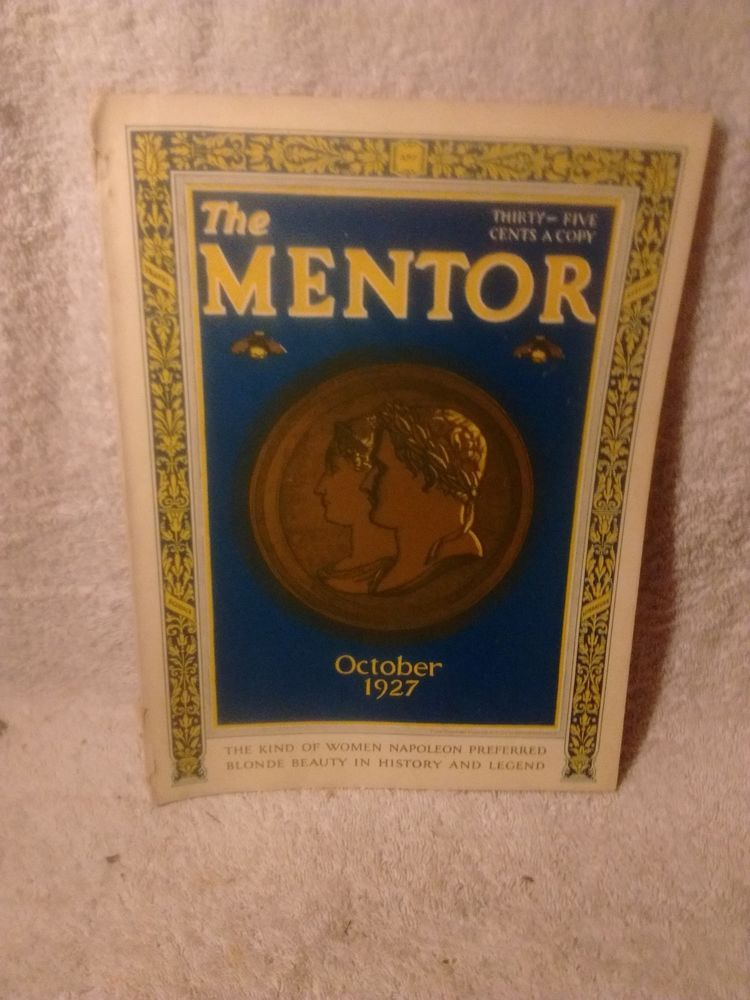"The Mentor Magazine October 1927 vol.15 no.9 "" Blonde Beauty"""