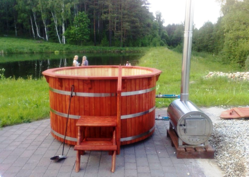 Details about wood fired hot tub heater wood fired pool - How to make your own swimming pool heater ...