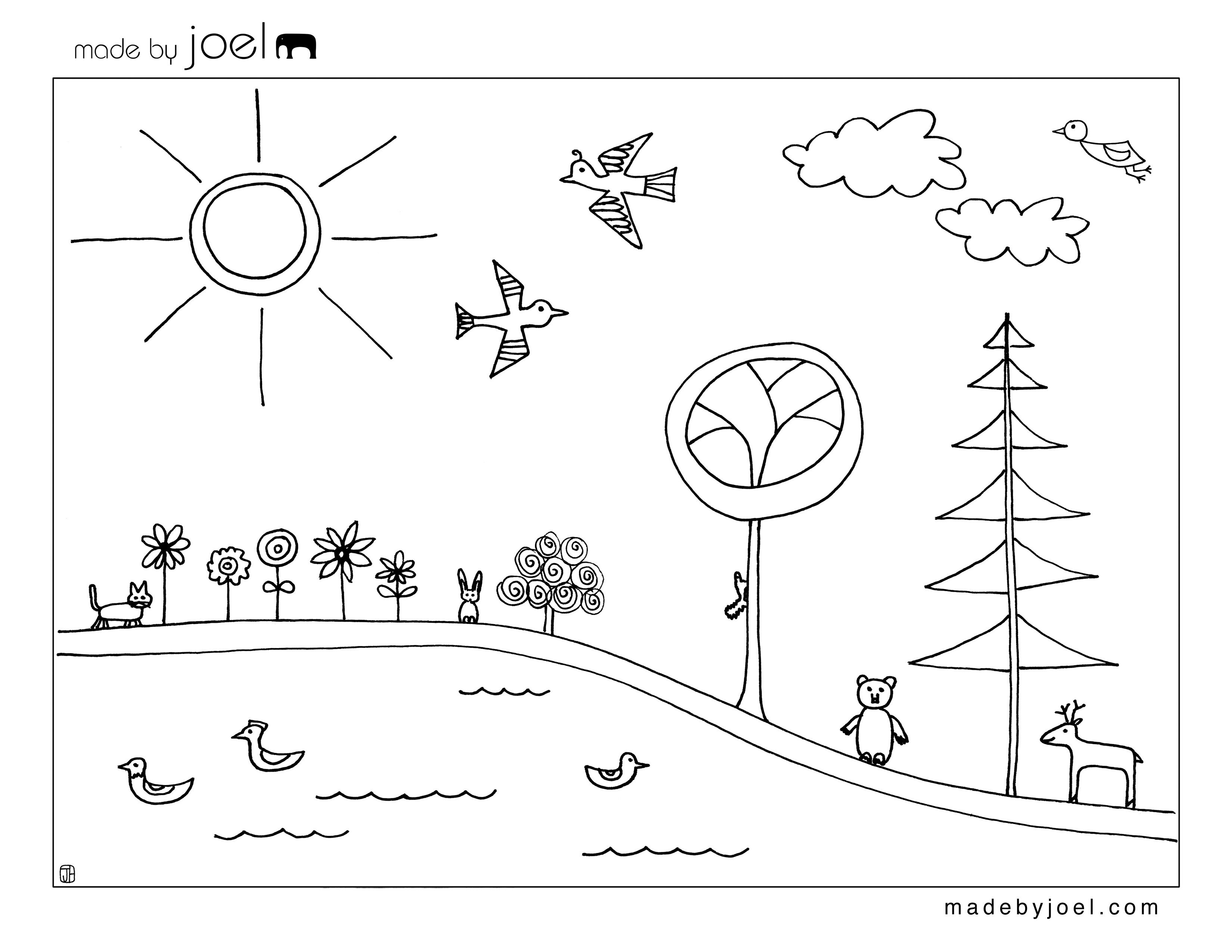 made by joel earth day coloring sheet printables kids - Free Earth Day Coloring Pages