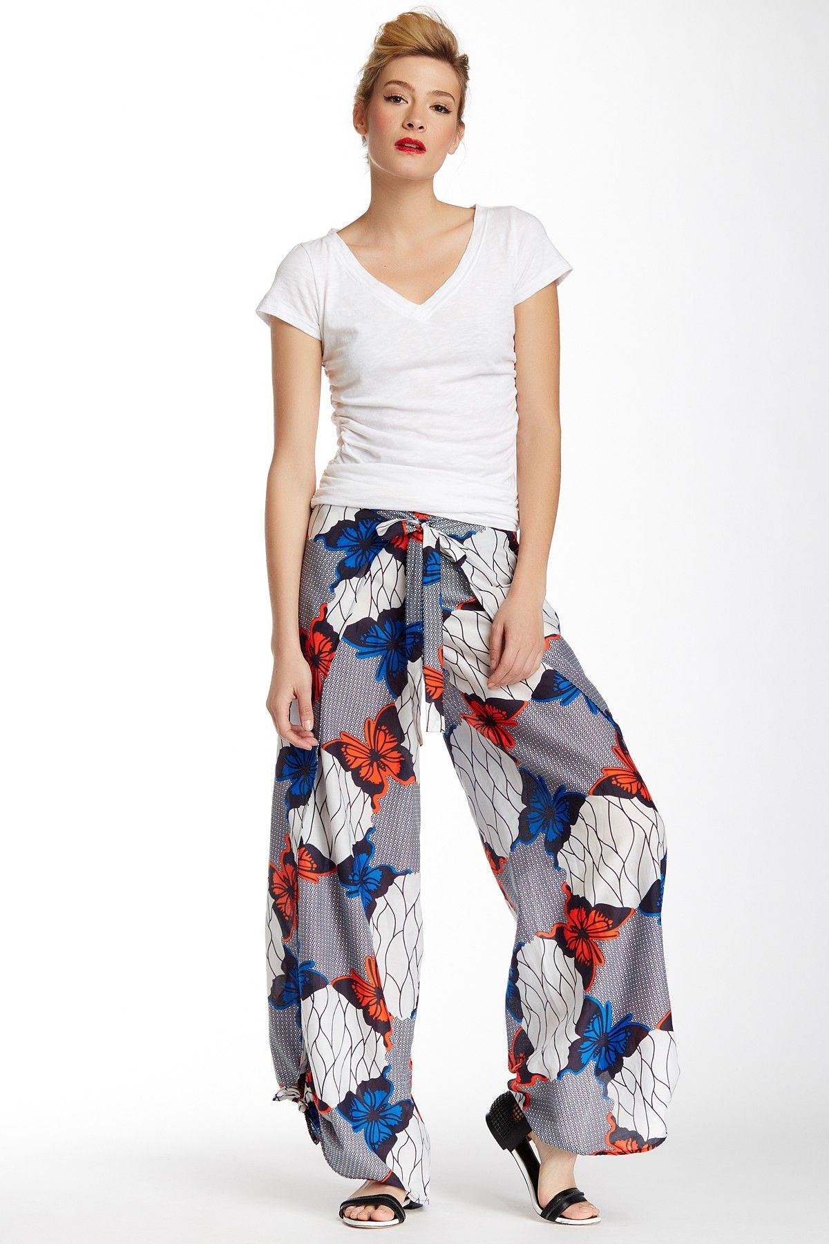 Butterfly Print Wrap Pant by L.A.M.B. on @HauteLook