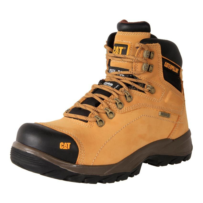 Buy Men's orthotic Caterpillar Waterproof Diagnostic zip up safety work  boots online. Removable footbed suitable