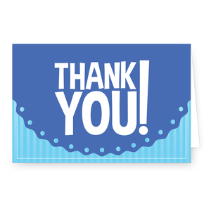 Thank You Blue Baby 4 X 6 Folded Note Card Our Boisterous Baby Blue Card Is A Perfect Way To Say Thank You The Adorab Folded Note Card Note Cards Cards