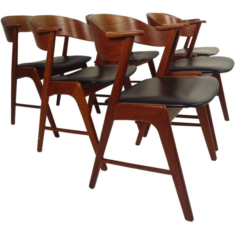Danish Modern Dining Chairs By Korup Stolefabrik