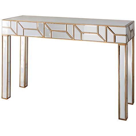 Hudson Living Verbier Gold Mirrored Console Console Table Table