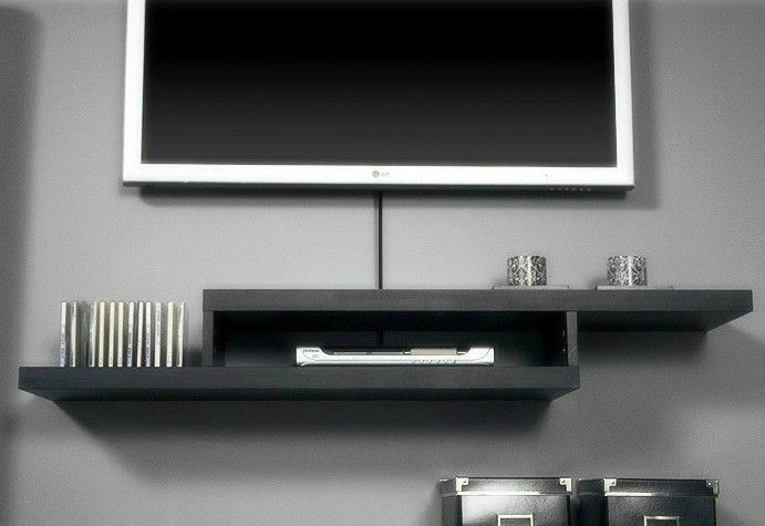 Shelf Under Wall Mounted Tv Box Shelves For Walls Wall Mounted