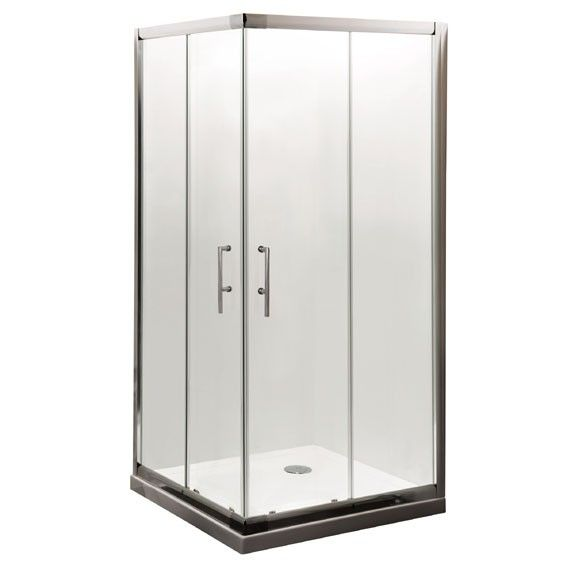Aegean Corner Entry Enclosure 800 X 800 262 00 Polished Chrome Square Double Sliding Doors Quick Release Wheels For Easy Clea Aluminio Aseo Cuadros