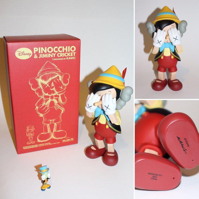 KAWS Pinocchio Companion Jiminy Cricket New Medicom toy